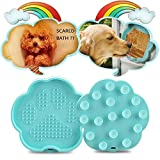 BonFook Bath Buddy for Dogs, Dog Lick Mat Lick Paw Pad for Easy and Funny Bath, Wall Mounted Dog Bath Toy Dog Washing Distraction Device Blue