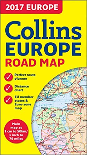 2017 Collins Europe Road Map Collins Uk 9780008203597 Amazon Com