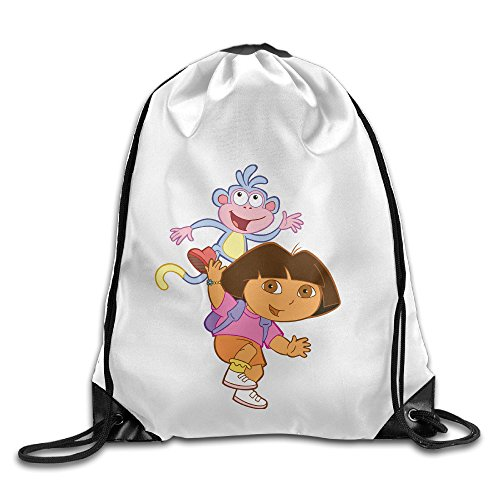 Bekey Dora The Explorer Poster Drawstring Backpack Sport Bag For Men & Women For Home Travel Storage Use Gym Traveling Shopping Sport Yoga ()