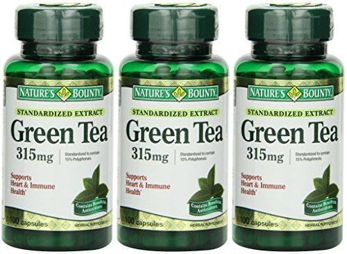 Nature's Bounty Green Tea Extract, 315mg, 300 Capsules (3 X 100 Count Bottles) (Best Green Tea Extract Pills)