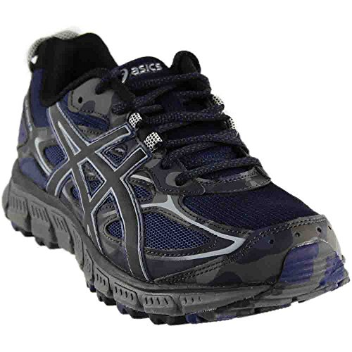 ASICS Men's Gel-Scram 3 Trail Runner, Indigo Blue/Silver/India Ink, 8 M - Com India Shop