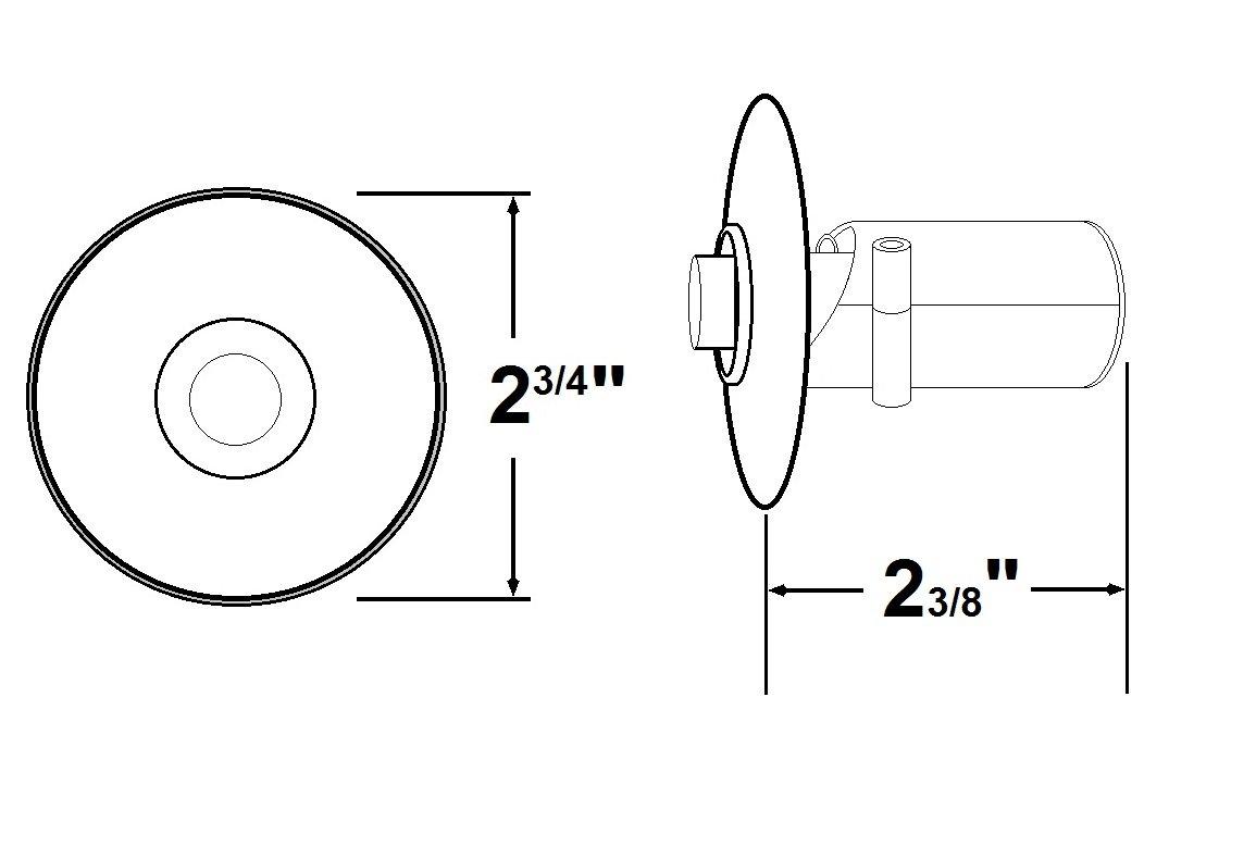 NICOR Lighting Prime Chime Stucco Button, Polished Brass (ECSBPB)