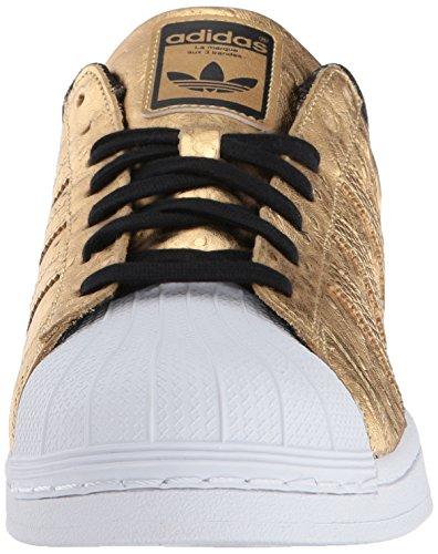 Adidas Originals Mens Superstar Mode Sneaker Goldmt / Goldmt / Ftwwht