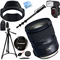Tamron SP 24-70mm f/2.8 Di VC USD G2 Lens for Canon Mount (AFA032C-700) with Kodak Flash And Deluxe Case Plus Accessories Bundle