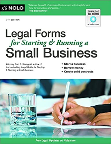 Legal Forms For Starting Running A Small Business Fred Steingold - Legal documents for business
