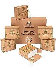 TRUE NATURE® [1200] bambusowe pałeczki higieniczne – certyfikat dermatologiczny – bez plastiku – tipsy Q bez plastiku – Cotton Buds – 100% biodegradowalne – w zestawie ebook