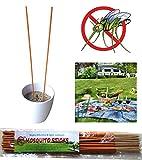 Mosquito Repellent Incense Sticks - Artemisia argyi, Pelargonium Graveolens, Thyme and Sawdust - 30 Sticks