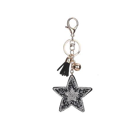 Anillo Llavero de la Estrella de Cristal Clave del ...