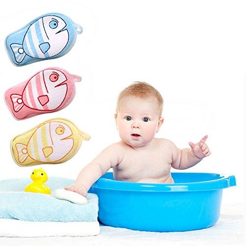 Newborn Bath Brush Soft Pure Cotton Baby Bath Foam Rub Shower Sponge 3 (Newborn Pure Cotton)
