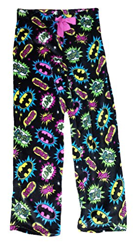 go Bam Super Pow All Over Plush Fleece Sleep Pants - Small ()
