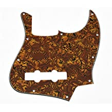 KAISH Tiger Stripe Jazz J Bass Pickguard for USA/Mexican 4 String Fender Jazz Bass