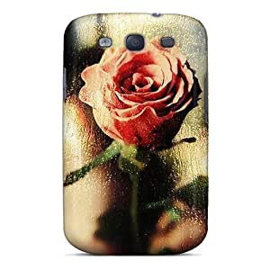 Durable Defender Case For Galaxy S3 Tpu Cover(rose)