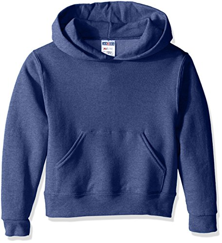 Jerzees Youth Pullover Hood, Vintage Heather Blue, Small