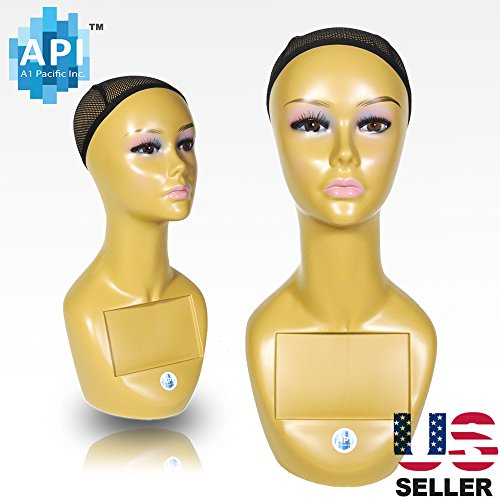 18'' Female Life size Mannequin Head for Wigs, Hats, Sunglasses Jewelry Display A3 by A1 Pacific Inc.