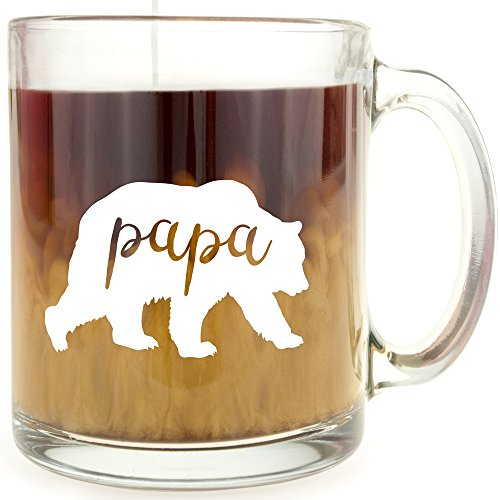 Papa Bear - Glass Coffee Mug ... (Papa Bear)