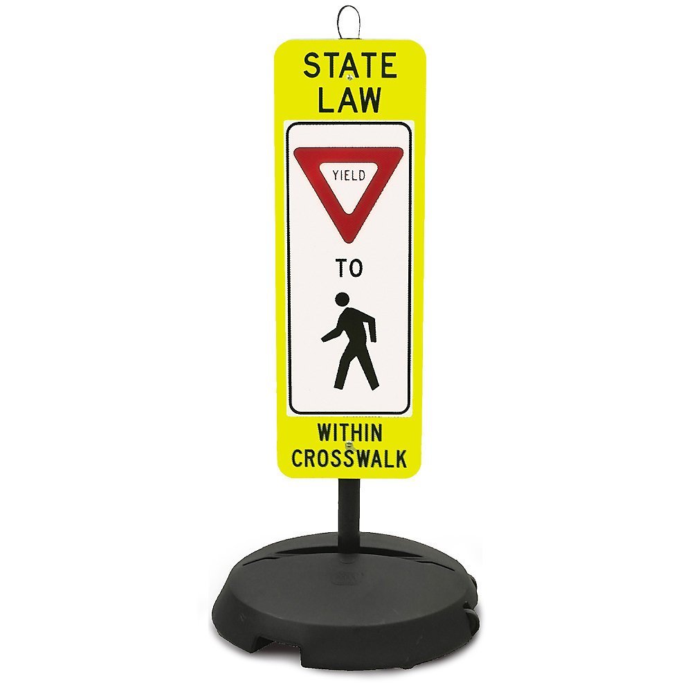 Tapco Wheeled-Base Sign Yield To Pedestrian
