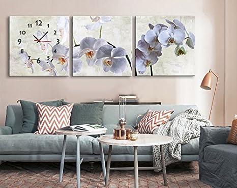 Orologi Da Parete In Tela : Orologio da parete decorativo dei murales fiore di prateria