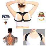 Back Support Posture Corrector Brace-Trainer for Men & Women, Providing Relief from Neck Pain Back Pain Shoulder Pain Bad Posture Lumbar Body Architec Straightener Spine Alignment Accessories Kyphosis