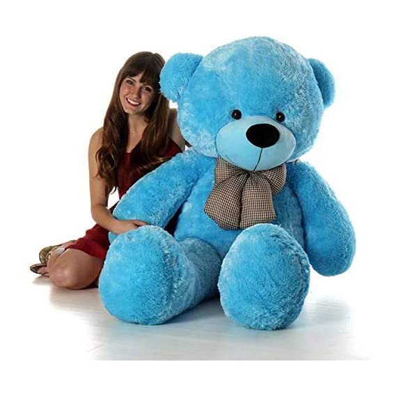 AGGALLERY 3 Feet Very Cute Long Soft Huggable Lovely Teddy Bear Best for Anniversary, Birthday & Valentines Gift . (Blue