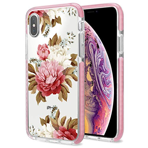 Cute iPhone Xs Max Case, Thinest Cool Pink iPhone Xs Max Case Clear Shockproof Bumper Cover Protective Case iPhone Xs Max Case6.5Inch (1)