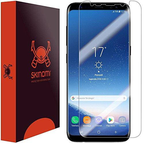 Galaxy S8 Plus Screen Protector (S8+)(Non Case-Friendly), Skinomi TechSkin Full Coverage Screen Protector for Galaxy S8 Plus Clear HD Anti-Bubble Film