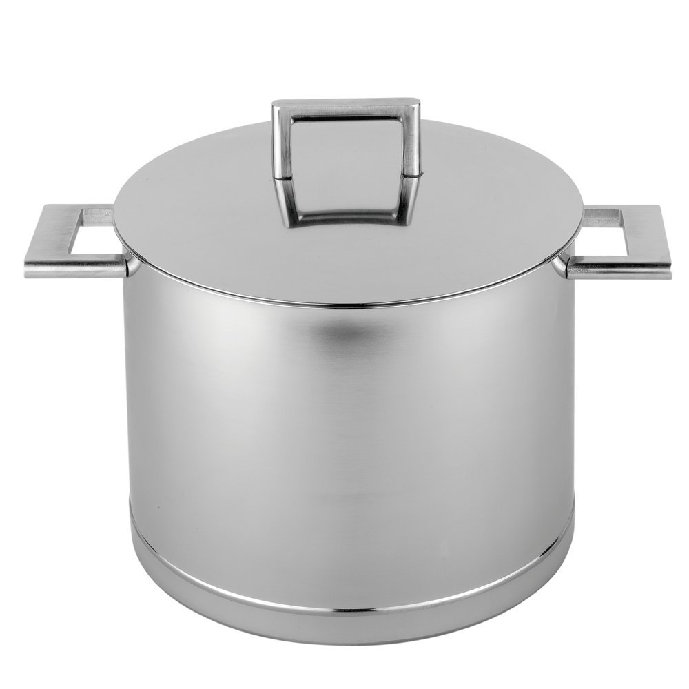Demeyere 41394 Atlantis 7-Ply Stainless Steel Stock Pot, 8.5 quarts, Silver