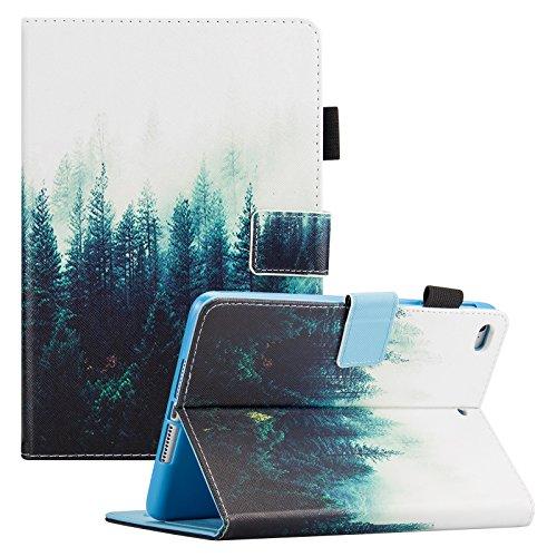 iPad Mini 4 case, iPad Mini 2/3/4 Case 7.9 inch, Slim Premium Leather Folio Stand Cover Case with Auto Wake/Sleep Function [Card Slots] Magnetic Closure Wallet Case for iPad Mini 4/3/2, Forest