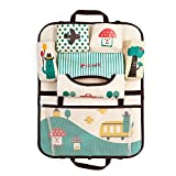 HomDSim Cartoon Car Seat Back Organizer Storage Bags Hanging Car Organizer Bags Pocket for Kids Children (Mushroom)