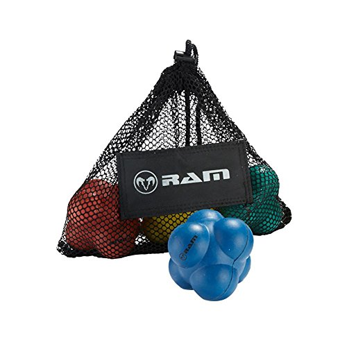 Ram Rugby Super Reaction Ball Set - 4 Pack - Blue/Green/Red/Yellow by Ram Rugby