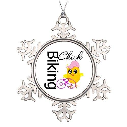 Lionkin8 Personalised Christmas Tree Decoration Biking Chick Christmas Snowflake Ornament Tree Chick Humor by Lionkin8