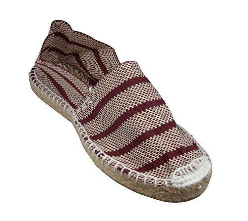 Textil Segovia Burdeos Hombre Alpargata Plana RqtwcB