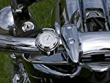 "TCMT 7/8"" 1"" Motorcycle Handlebar Chrome White Dial"