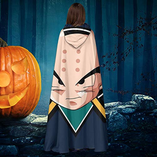 Mighty Ducks Halloween Costume (Dragon Ball Z Krillin Mighty Ducks Mix Unisex Christmas Halloween Witch Knight Hooded Robe Vampires Cape Cloak Cosplay Costume)