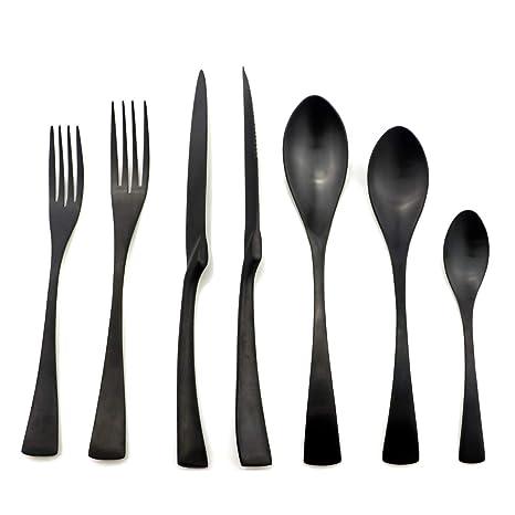 Amazon.com: Juego de utensilios planos de varios colores, de ...