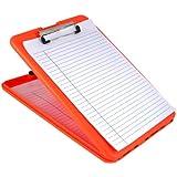 Saunders SlimMate Plastic Storage Clipboard, Letter Size (8.5-Inch x 12-Inch), Bright Orange (00579)