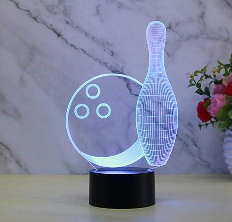 Luz de la noche 3D Luz de la noche Ilusión Luz Colorido ...