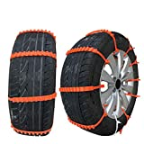 Walmeck 10pcs Snow Chains Lot Car Universal Mini Plastic Winter Tyres wheels For Cars/Suv Car-Styling Anti-Skid Autocross Outdoor