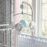 Carousel Designs Pink and Gray Rosa Mobile