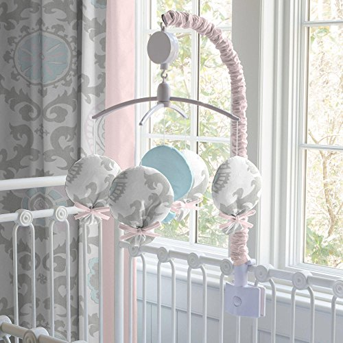 Carousel Designs Pink and Gray Rosa Mobile by Carousel Designs