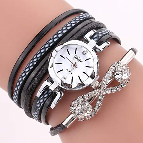 LLCOFFGA Women Watch Bracelet Diamond Butterfly Clasp Bracelet Watch Quartz Wristwatch with Diamonds, Ladies Glass Mirror Watch for Birthday Valentine