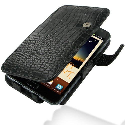 PDair B41 Black Crocodile Pattern Leather Case for Samsung Galaxy Note GT-N7000 / SGH-I717