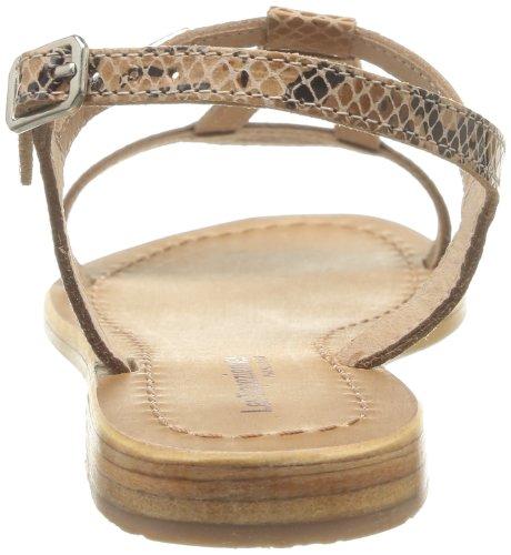 Les Tropéziennes par M. Belarbi - Hamess, Sandalias Mujer, Naranja (corail), 36 EU Beige (serpent Beige)