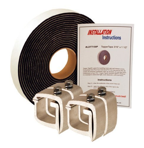 API KH1P4-LDTT150P Mounting Clamps & Topper Tape® for Truck Caps / Camper Shells (Set of 4)