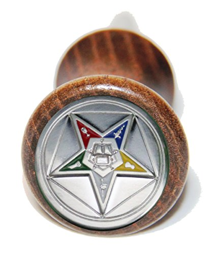 Custom Masonic Eastern Star wine bottle stopper