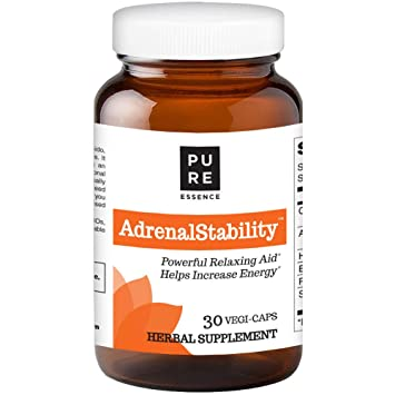 Adrenal Stability by Pure Essence Labs - Natural Adrenal Health Support Supplement for Fatigue,Stress