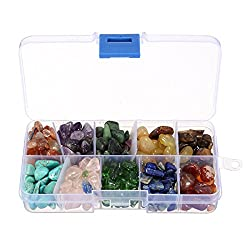 Crystal Quartz,1/2 lb 10-Stone Mix:Red Crystal.Amethyst,Red&Green Gem,Yellow Agate,Tiger's Eye,Turquoise,Rose Quartz,Green Olives,Lapis Lazuli,Red Agate, Raw Natural Crystals for Cabbing