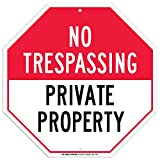 #10: No Trespassing Private Property Sign - 12