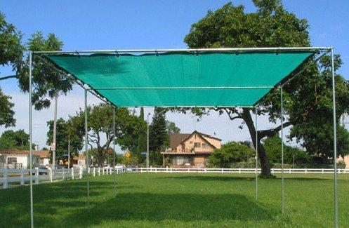 8u0027X18u0027 (Green) Heavy Duty Mesh Tarp Net Sail Sun Shade Awning And Fence  Screen Patio And ...