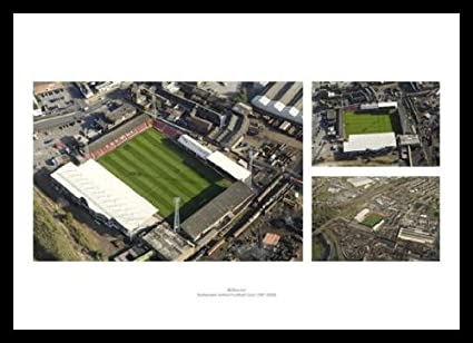Rotherham United Old Stadium Millmoor Aerial View Photo Memorabilia