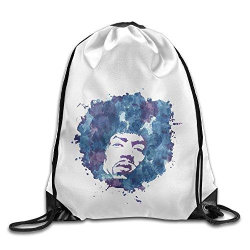 Bekey Jimi Hendrix Poster Gym Drawstring Backpack Bags For Men & Women For Home Travel Storage Use Gym Traveling Shopping Sport Yoga